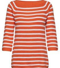 abbie off shoulder s t-shirts & tops long-sleeved rood tommy hilfiger