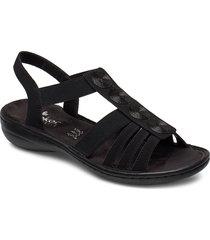 60870-00 shoes summer shoes flat sandals svart rieker