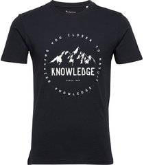 alder tee - gots/vegan t-shirts short-sleeved blå knowledge cotton apparel