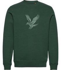 embroidered eagle sweatshirt sweat-shirt trui groen lyle & scott