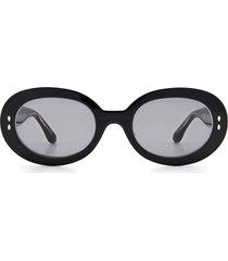 women's isabel marant 53mm round sunglasses - black/ grey