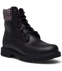 6in heritage boot cupsole - w shoes boots ankle boots ankle boot - flat svart timberland