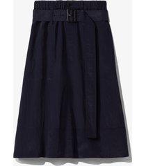 proenza schouler white label textured parachute midi skirt navy/black 2