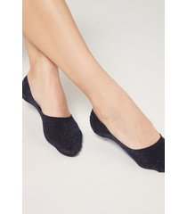 calzedonia invisible socks in faded pattern woman black size 40-41
