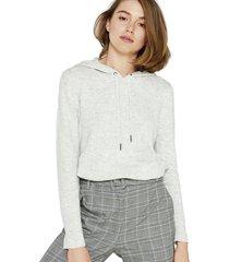 sweater con capucha de hilo jaspeado esprit