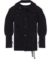 denim jacket with rips