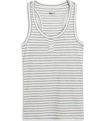 camiseta mujer m/s rayas delgadas