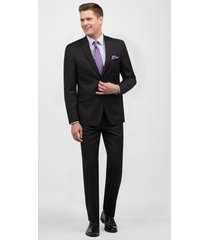 jos. a. bank men's traveler collection tailored fit suit clearance, black, 36 short