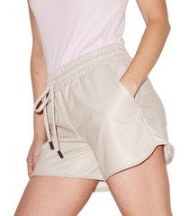 lna faux-leather shorts