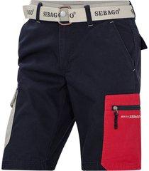 cargoshorts red pocket shorts