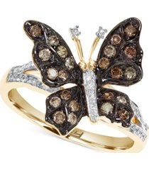 effy diamond butterfly statement ring (1/2 ct. t.w.) in 14k gold