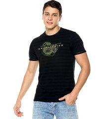 camiseta negro-verde americanino