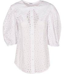 vivetta perforated balloon-sleeved shirt