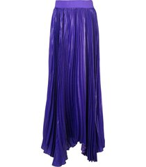 alice+olivia pleated maxi skirt - purple
