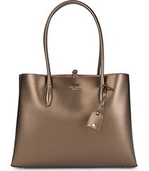 large coated leather tote