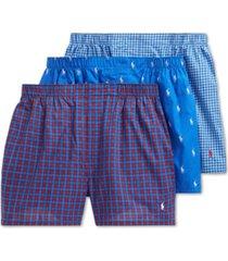 polo ralph lauren men's classic 3-pack woven boxer