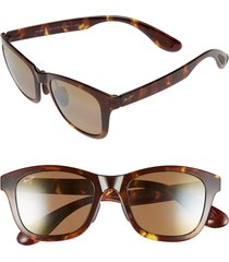 women's maui jim hana bay 51mm polarizedplus2 sunglasses - tokyo tortoise/ hcl bronze