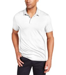 alfani men's alfatech stretch solid polo shirt, created for macy's