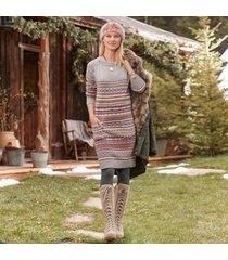 sundance catalog women's elise lighthouse sweater dress in fairisle large