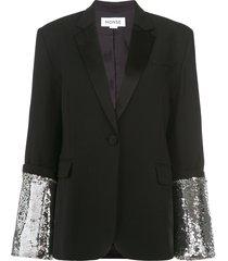 monse large sequin cuff jacket - black