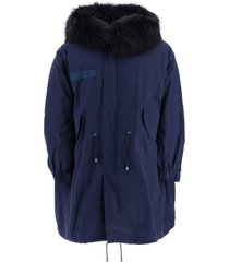 mr & mrs italy m51 long parka with murmasky fur