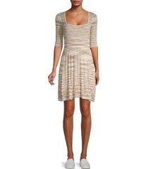 m missoni women's striped mini dress - stone - size 46 (10)