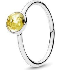 anel gota de citrino - novembro