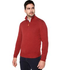 sweater rojo 108 preppy m/l c/alto media cr t. grueso