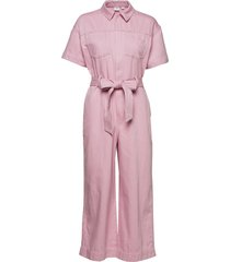 utility tie-belt jumpsuit jumpsuit rosa gap