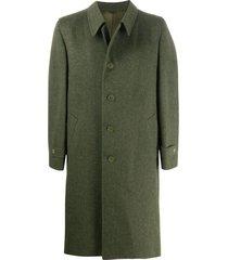 a.n.g.e.l.o. vintage cult 1980s structured shoulder coat - green