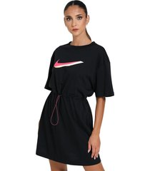short dress with logo with spring at the waist