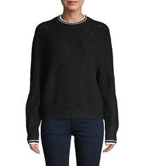 stewart stripe-trim sweater