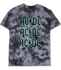 love tribe trendy plus size acdc tie-dye t-shirt