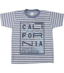 camiseta ano zero malha listrada cool califórnia azul