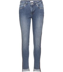 jeans - relaxed fit, ankle lenght w. little flare and stripe raka jeans blå coster copenhagen
