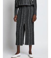 proenza schouler ottoman knit skirt 10237 black/grey m
