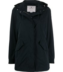 woolrich summer parka coat - blue