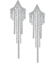 swarovski crystal & ball chain shooting star statement earrings
