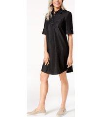 karen scott plus size cotton denim dress, created for macy's