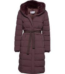 coat not wool gevoerde lange jas paars gerry weber edition