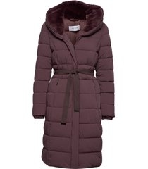 coat not wool gevoerde lange jas paars gerry weber edition