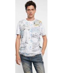 cotton t-shirt reverse effect - white - xxl
