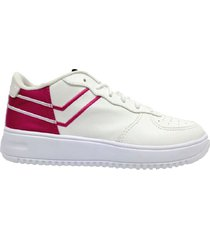 zapatilla blanca pony turbulence ox bicolor