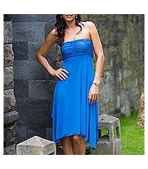 jersey knit dress, 'java in blue chic' (indonesia)