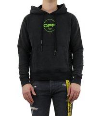hand logo sim hoodie zwart
