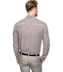 koszula versone 2705 długi rękaw custom fit brąz