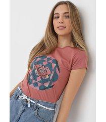 camiseta roxy explosion rosa