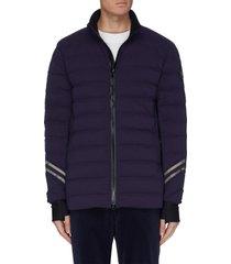 'hybridge' reflective stripe puffer jacket