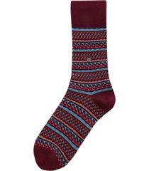 burlington socks fair isle socks - red 20586