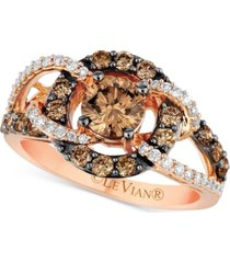 le vian chocolatier diamond statement ring (1-1/2 ct. t.w.) in 14k rose gold